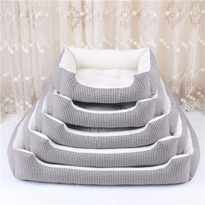 Soft Fleece Dog Bed and Detachable Cushion