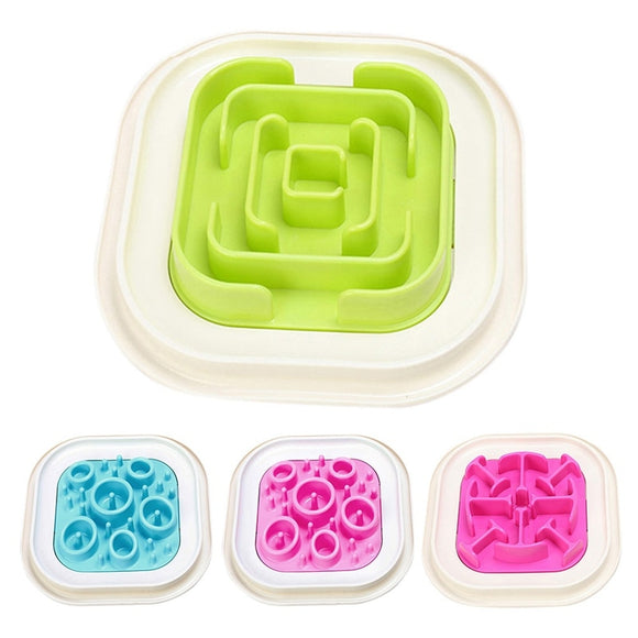 Pattern and Maze Slow Feeder Dog Bowls