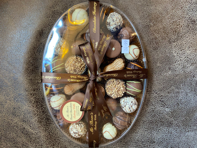 Large oval handmade chocolate box