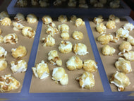 Handmade Golden Caramel Bar with Toffee Popcorn 100g