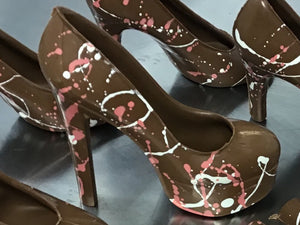 Artisan Handmade Belgian chocolate platform shoe filled with luxury handmade chocolates