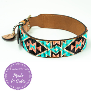 Santorini Sambboho dog collar (made to order)