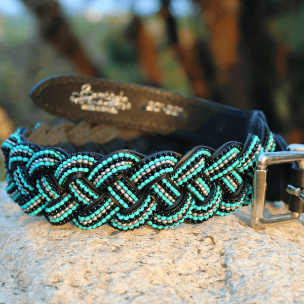 Saint Barth Braided Sambboho dog collar (made to order)