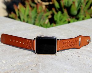 Braided Leather Apple Watch Band