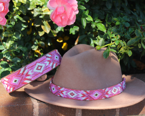 Melrose dog collar/hatband bundle
