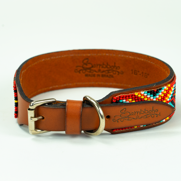 Tropicalia Sambboho dog collar (made to order)