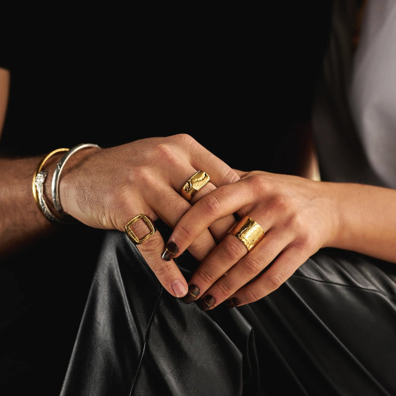 GOLD CHUNKY RINGS