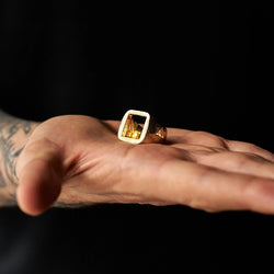 DION DREYES GOLD CHUNKY RINGS