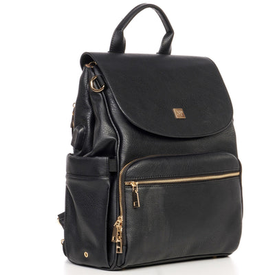 Outlet Bailey Vegan Leather Backpack - Sleepy Panda diaper bag backpack stroller straps changing pad
