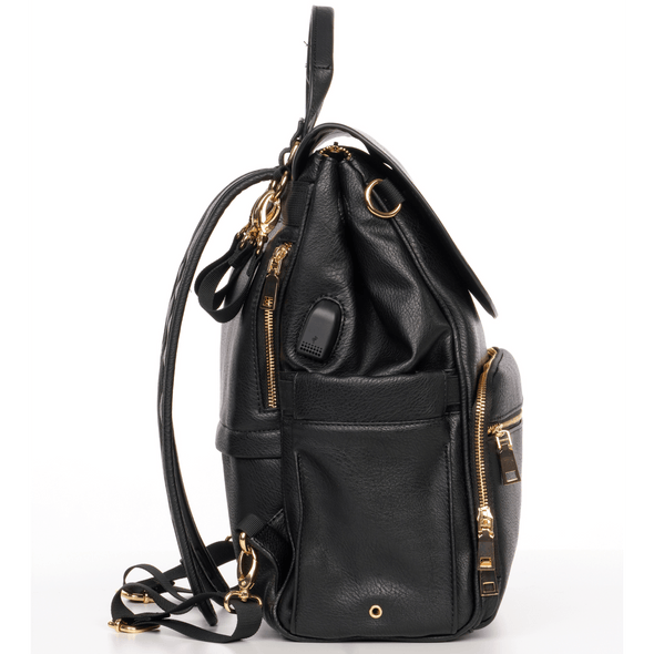 Bailey Vegan Leather Diaper Bag or Backpack