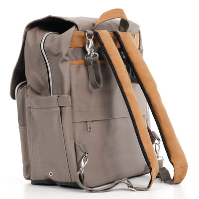 Outlet Kaitlyn Canvas Backpack - Sleepy Panda diaper bag backpack stroller straps changing pad