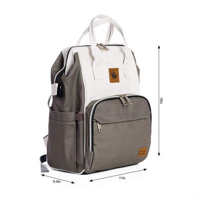 Lizzie Canvas Backpack - Sleepy Panda diaper bag backpack stroller straps changing pad