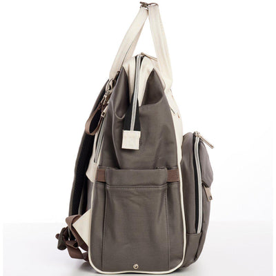 Outlet Lizzie Canvas Backpack - Sleepy Panda diaper bag backpack stroller straps changing pad