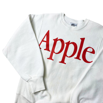 Early 90's Apple Spell Out White Sweatshirt