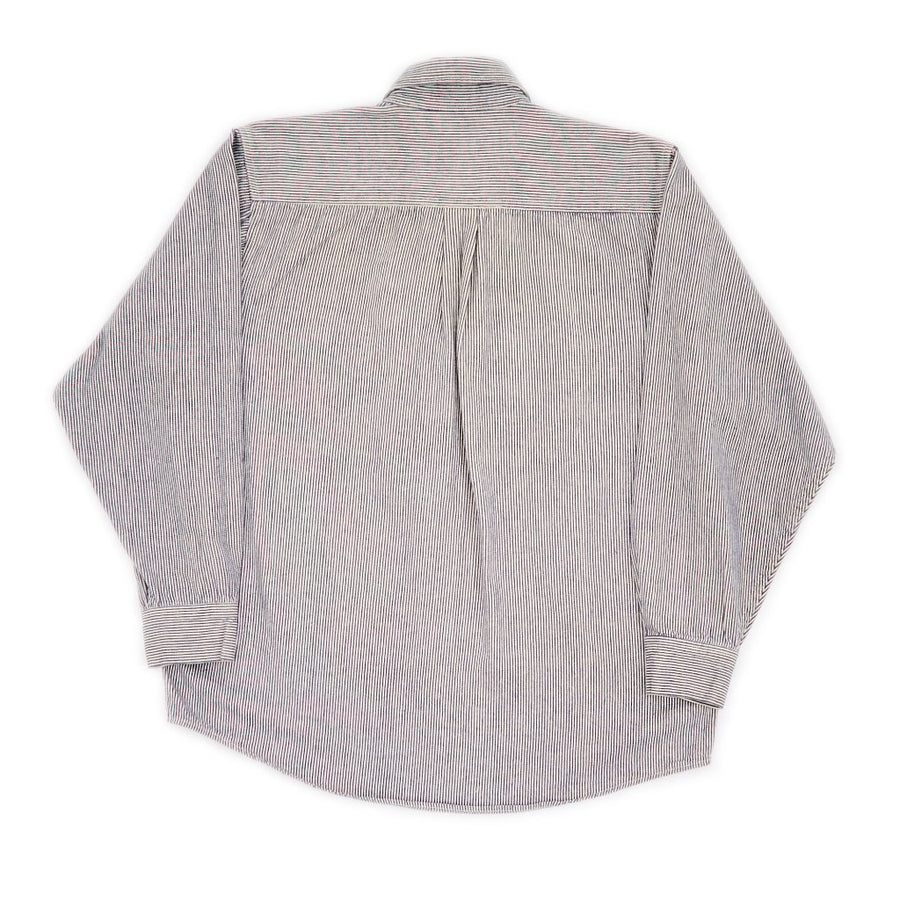 Ben Davis Long Sleeve Stripe Chambray Work Shirt
