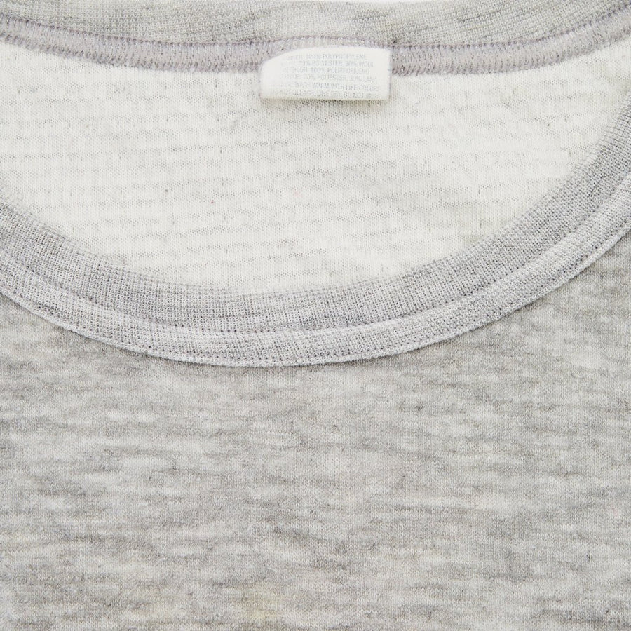 Early 90's Plain Grey US Long-sleeve Thermal