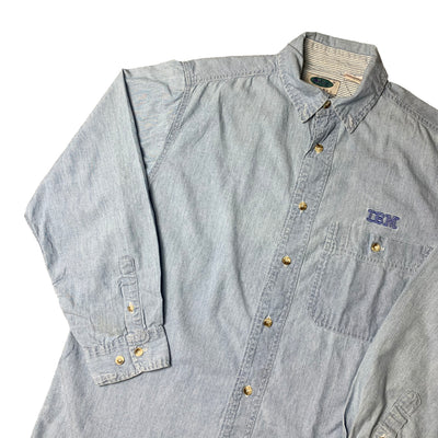 90's IBM Denim Chambray Work Shirt