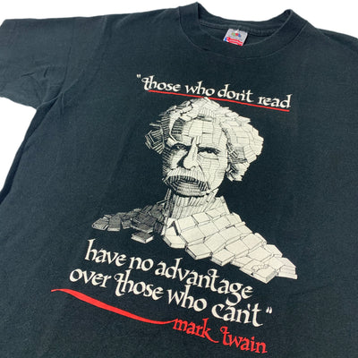 Early 90's Mark Twain 'Those Who Don't Read' T-Shirt