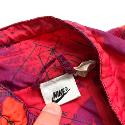 90's Nike Zip Track All Over Print Jacket