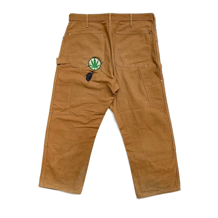 90's Carhartt Carpenter's Repaired Weed Logo Workpants