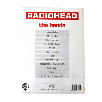 1995 Radiohead 'The Bends' Guitar/Vocal Book