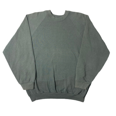 80's Fruit Of The Loom Black Faded Sweatshirt