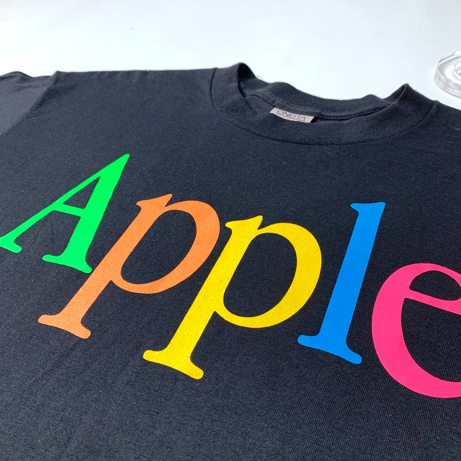 Mid 90's Apple Rainbow Logo T-Shirt
