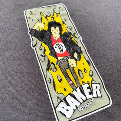 Late 90's Baker Skateboards Sid Vicious T-Shirt
