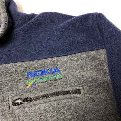 90's Nokia Snowboard  Zip Fleece