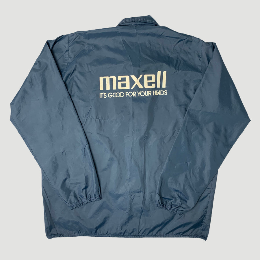 80's Maxell Logo Windbreaker Jacket
