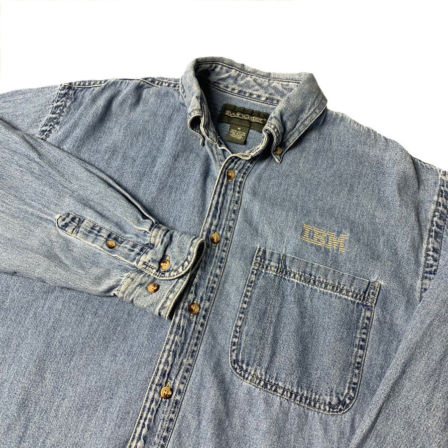 90's IBM Denim Work Shirt