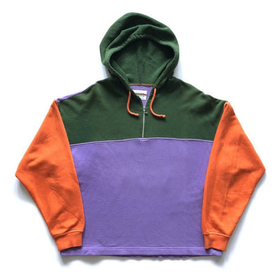 90's Benetton Half Zip 'Atlantic Slam' Backprint Hooded Fleece