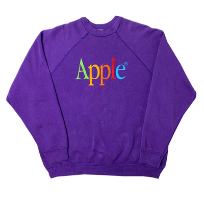 80's Apple Embroidered Logo Sweatshirt