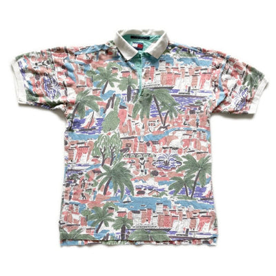 90's Tommy Hilfiger Hawaiian Polo Shirt