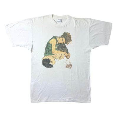 90's Egon Schiele Sitting Woman T-Shirt