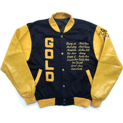 90's USA 'Gold' Varsity Baseball Jacket