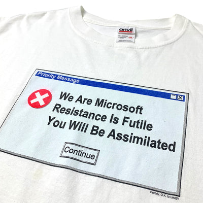 Late 90's We Are Microsoft Error T-Shirt
