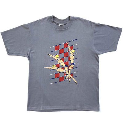 90's Levi's 'Olympic Swimmers' Single Stitch Violet T-shirt