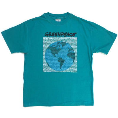 1989 Greenpeace Globe Single Stitch T-shirt