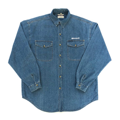 Early 90's Microsoft Chambray Denim Shirt