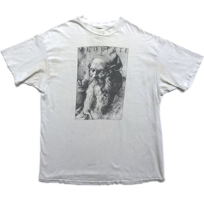 90's Earth Angels 'Meditate' Single Stiched T-shirt
