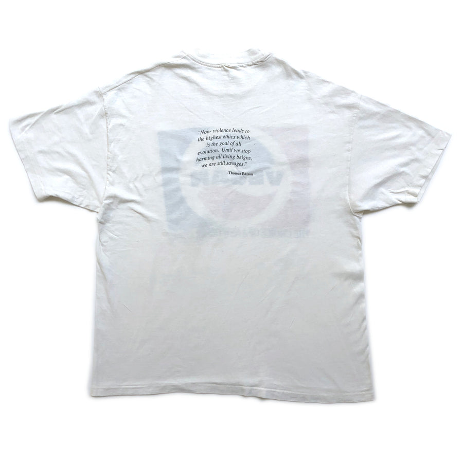 90's Vegan Pepsi Logo Theme White T-Shirt