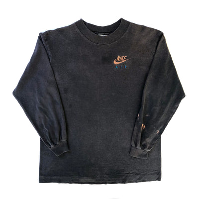 90's Nike long sleeve Embroidery Logo T-shirt
