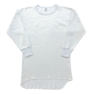 80's Hanes Long Sleeve White Thermal