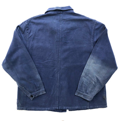 60's French 2 Pocket Blue Work Jacket