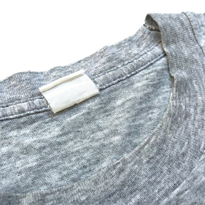 80's Plain Single Stitch Grey Marl pocket T-shirt