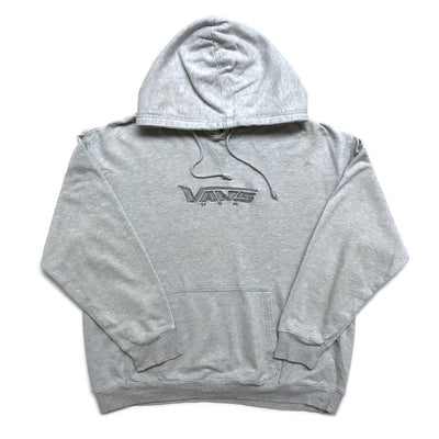 90's Vans Embroidered Logo Grey Hoodie