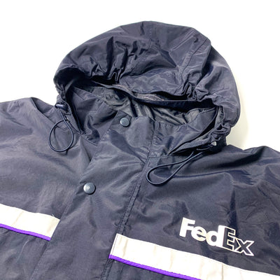 90's Fed Ex Zipped Hooded Workers Jacket