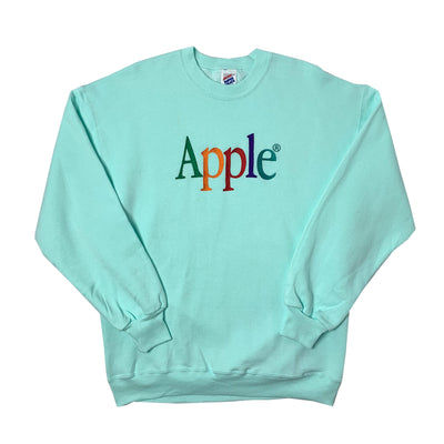 90's Apple Embroidered Logo Sweatshirt