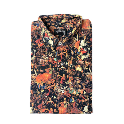 Mid 90's Stussy Medieval All Over Print Shirt